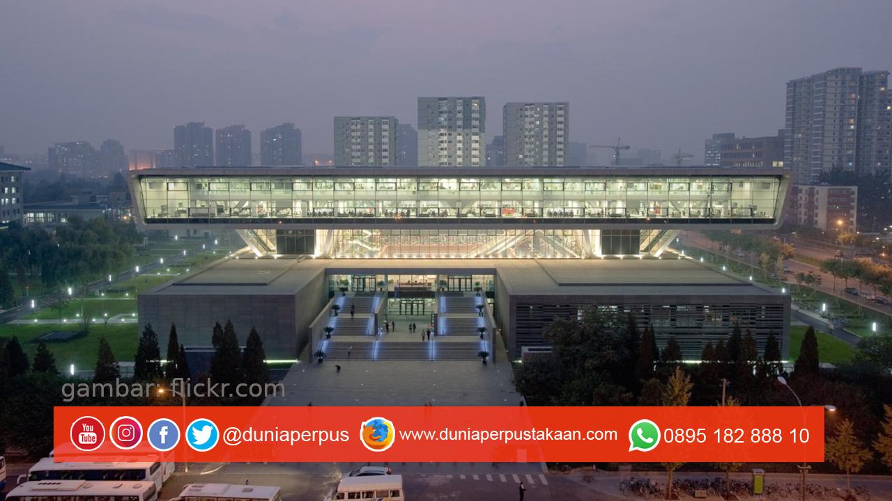 Perpustakaan Nasional China dari Depan
