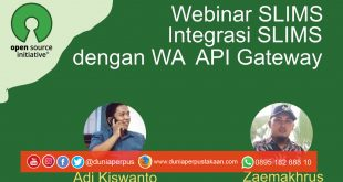 Pendaftaran Webinar Integrasi SLIMS dan WhatsApp GRATIS!