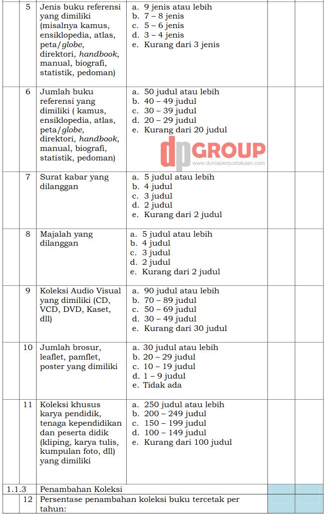 Form Akreditasi Perpustakaan Sekolah3